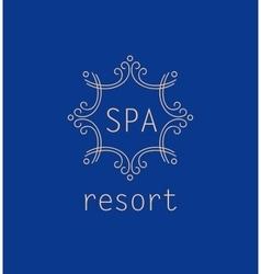 Template logo for spa resort elegant vector