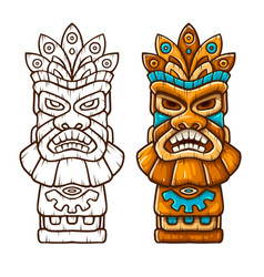 tiki traditional hawaiian vector image