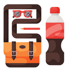 travel time summer vacation accessory in vector image