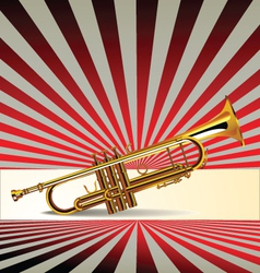 Trumpet retro background vector