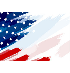 usa or american flag paintbrush vector image