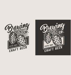 vintage craft beer logo vector image