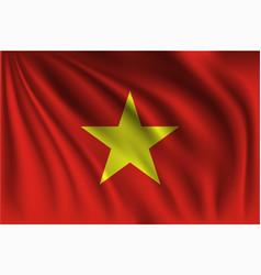 Waving vietnam vector