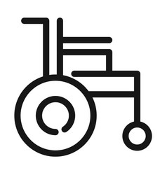 wheelchair disability equipment medical and health vector image