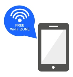Wi Fi free zone mobile icon vector image