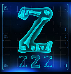 Z letter capital digit roentgen x-ray vector