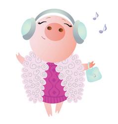 zodiac pig aries chinese horoscope symbol 2019 vector image