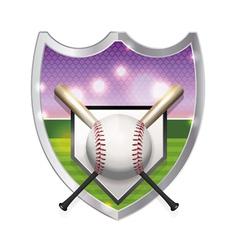 Baseball Badge Emblem vector image vector image