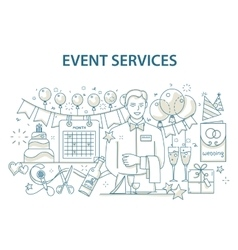 Doodle style design concept of special event and vector image