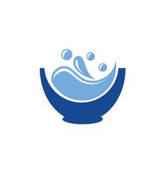drink glass splash logo design vector image