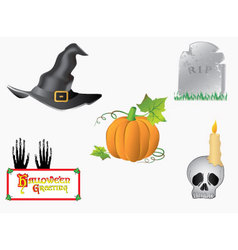 halloween-symbols vector image