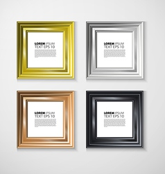 Picture frame Photo art gallery vintage wall vector image