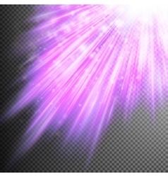 Stars are falling on purple luminous rays eps 10 vector