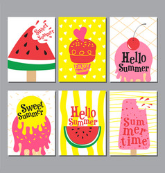 summer layout design greeting card cover book vector image