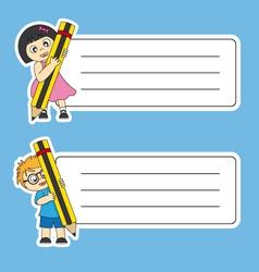 tags labels school vector image vector image