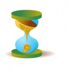 time and dollars vector image vector image