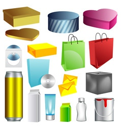 blank packaging templates vector image vector image