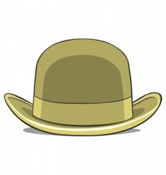 illustration of one hat derby vector image vector image