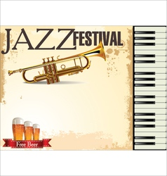Jazz festival free beer vector