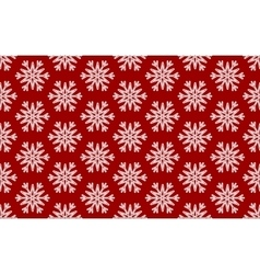 Seamless Pattern of White Snowflakes on a vector image vector image
