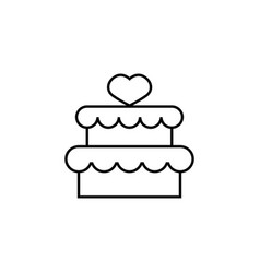 cake with hearth icon vector image vector image