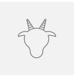 Cow head line icon vector image