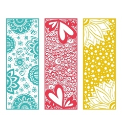 Floral banners zentangle vector image