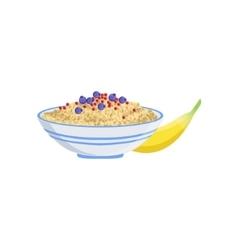 Porridge European Cuisine Food Menu Item Detailed vector image
