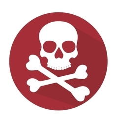 skull and bones symbol pirate vector image vector image