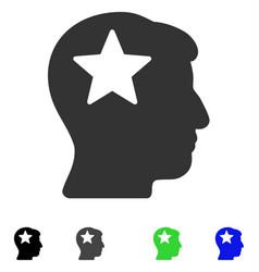 Star head flat icon vector