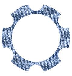 gear wheel fabric textured icon vector image