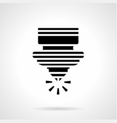 laser cutting machine glyph style icon vector image vector image