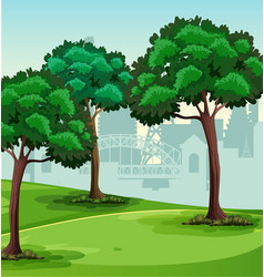 a simple park scene vector image
