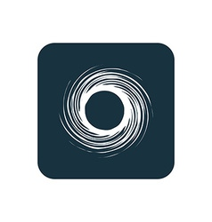 Abstract circle icon Rounded squares button vector