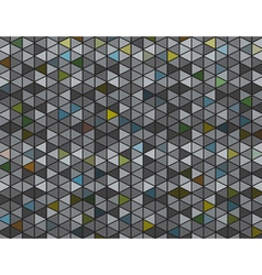 Abstract Grey and Colored Triangles Background vector image