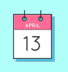 April calendar icon vector