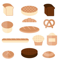 bakery and pastry products bakery and pastry vector image