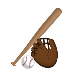 baseball equipment isolated icon vector image