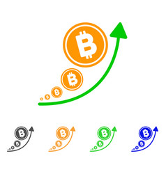 bitcoin inflation trend icon vector image