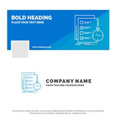 Blue business logo template for todo task list vector