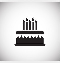 cake with candles on white background vector image