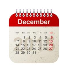 Calendar 2015 - december vector