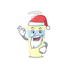 cartoon character serum santa having cute ok vector image