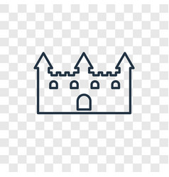 Castle toy concept linear icon isolated on vector