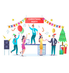 Christmas party concept for web banner website vector