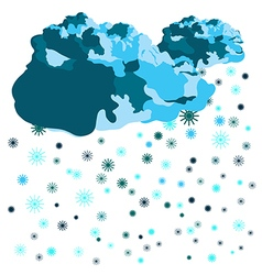 Clouds and snowflakes vector