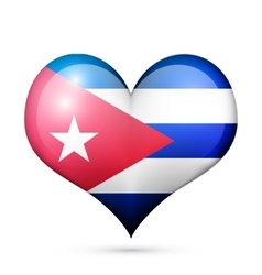 Cuba Heart flag icon vector