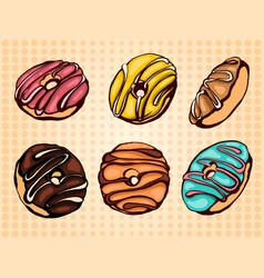 donuts set vector image