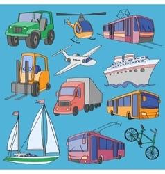 Doodle transport vector