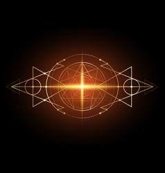 Enneagram yoga gold icon design and lotus position vector